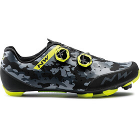 Northwave Rebel 2 Schoenen Heren, camo black/yelow fluo